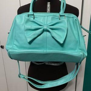Torrid turquoise blue bow satchel purse